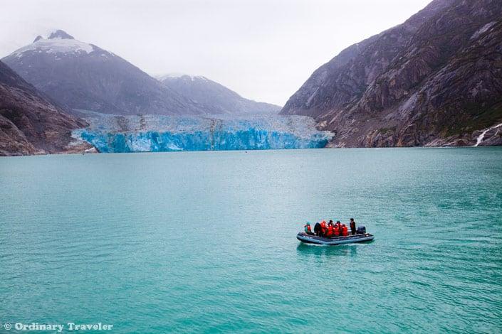 skiff tour dawes glacier alaska