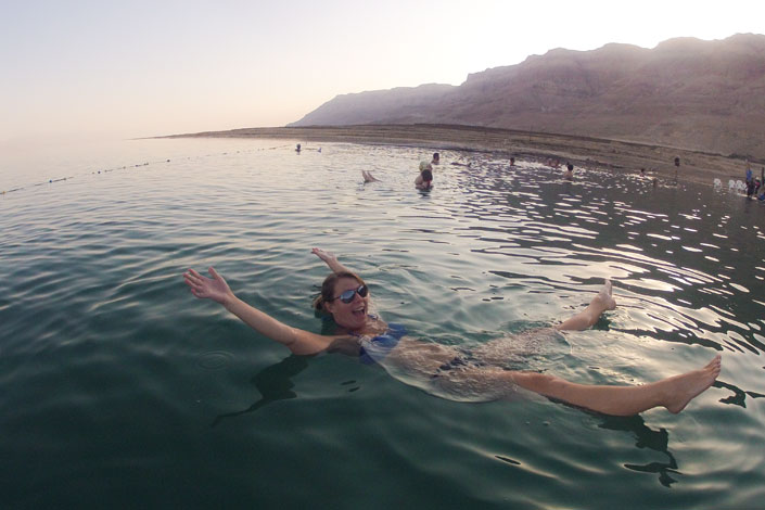 Christy Floating in the Dead Sea