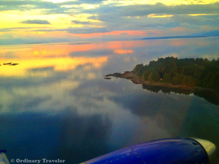 Port Hardy Airport Sunset from the Plane