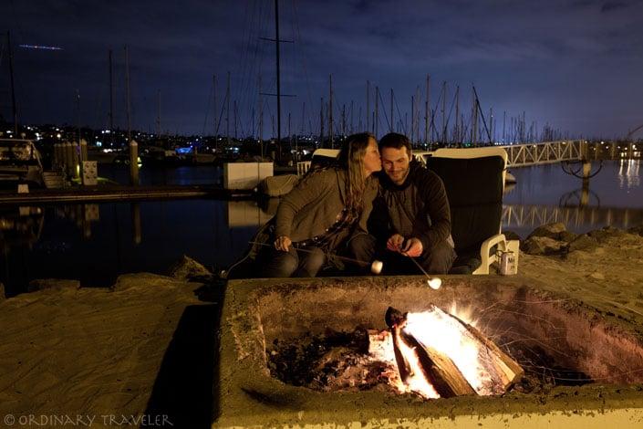 Bonfire at Kona Kai Resort San Diego, California