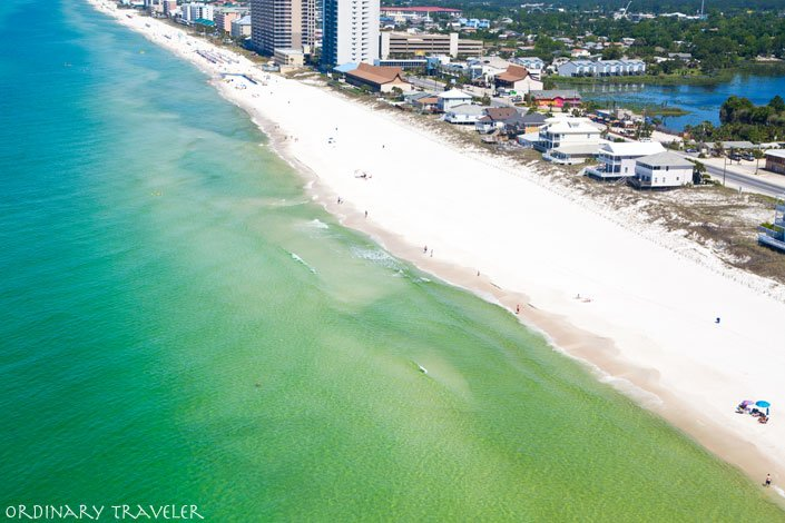 Coastal Aerial View Panama City Beach Florida