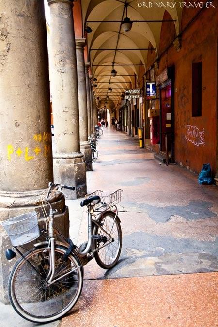 Porticoes in Bologna, Italy