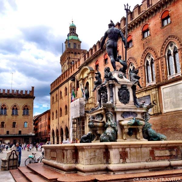 Piazza del Nettuno in Bologna