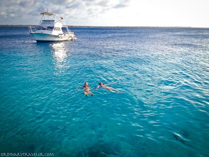 Floating in the Caribbean at Buddy Dive Resort Bonaire