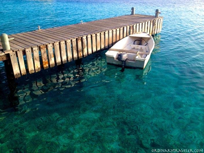 Boat Dock at Buddy Dive Resort Bonaire