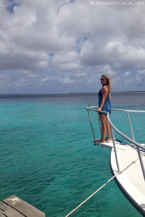 Yacht in Bonaire Caribbean