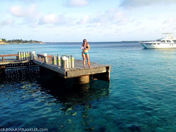 Getting PADI certified in Bonaire, Caribbean