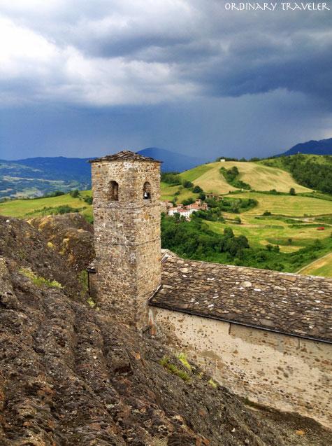 Medieval Church on Pietra Perduca in Trebbia Valley, Italy