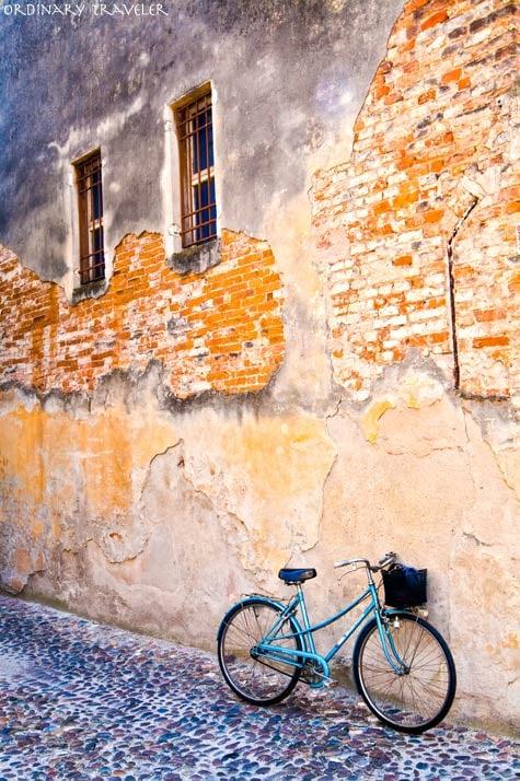 Cycling in Mantua Italy