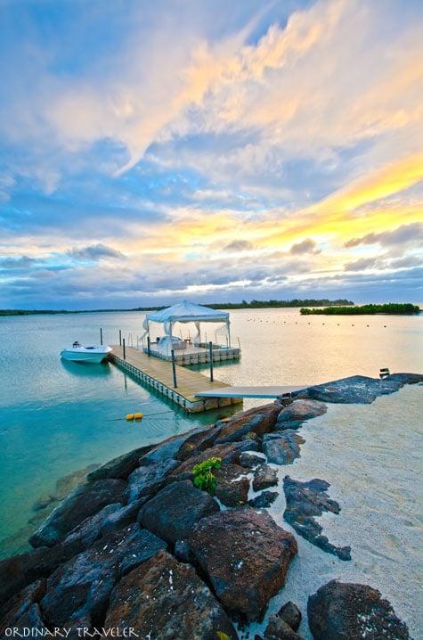 Sunrise at the Four Seasons Mauritius
