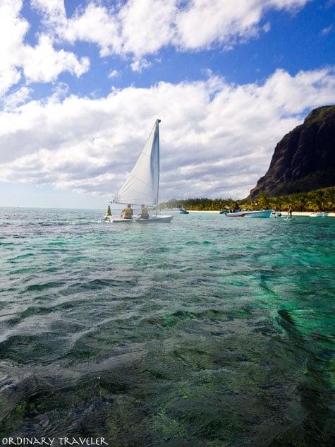Sailing on West Coast of Mauritius, Africa