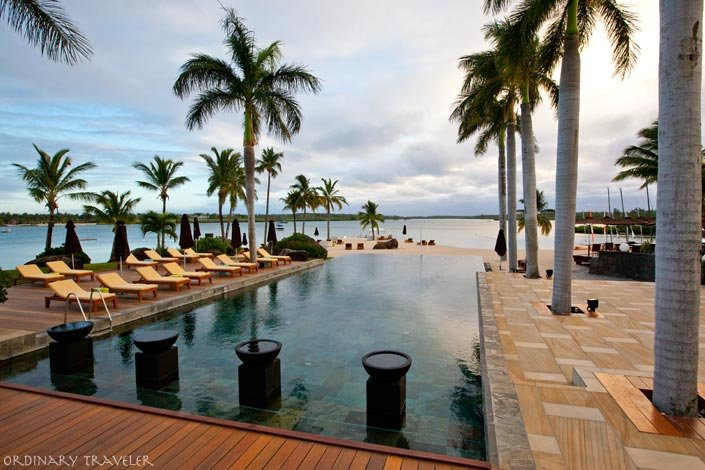The Four Seasons Mauritius Pool Overlooking Ocean