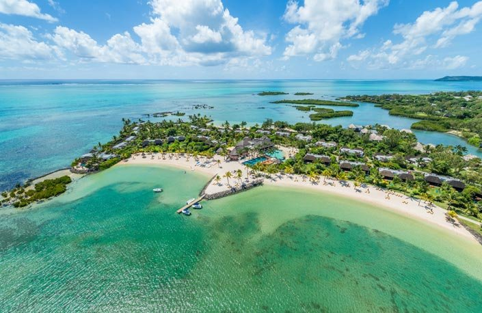 The Four Seasons Mauritius Aerial View