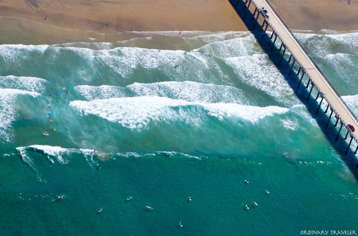 San Diego Aerial Coastline View