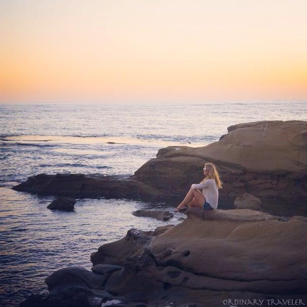 Sunset at Windansea in La Jolla, California