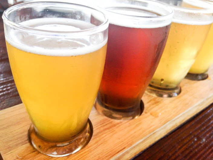 Belgian Beer Flight at Public House La Jolla, California