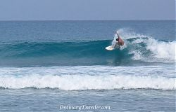Surfing Encuentro Beach, Dominican Republic