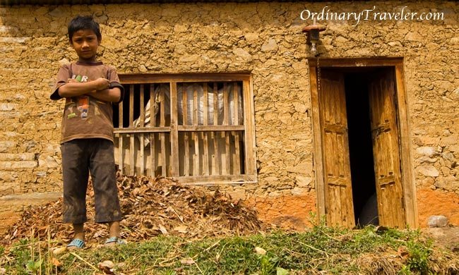 Boy in Remote Village Between Nagarkot & Dhulikel - Nepal