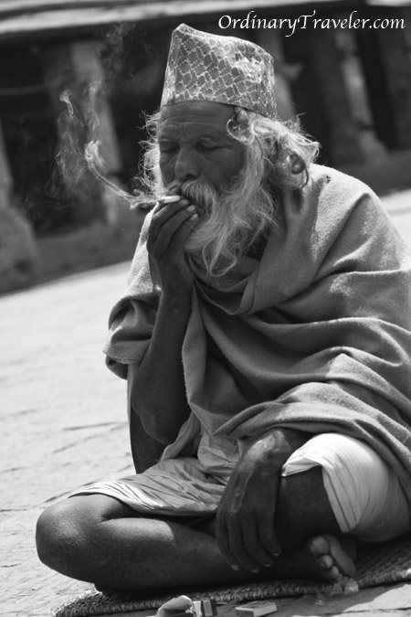 Smoking Man - Pashupatinath Temple