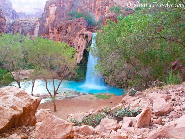Havasu Falls - Navajo Falls Waterfall Grand Canyon