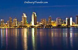 San Diego Skyline - Coronado at Night