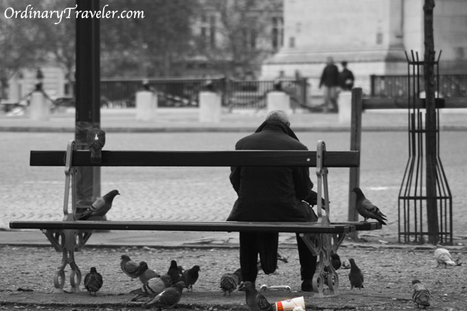 Paris - Man on Bench