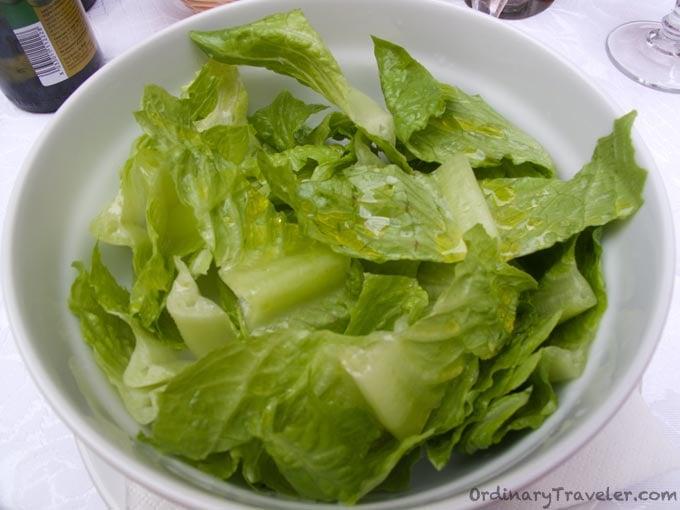 Insalata Verde - Green Salad in Italy