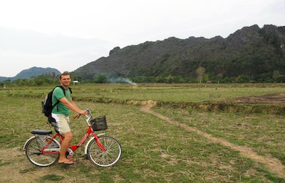 Biking to the Blue Lagoon Laos