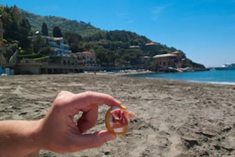 Beach Picnic in Cinque Terre Italy