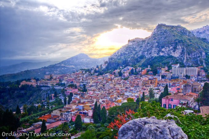 Sicily Sunset over Taormina