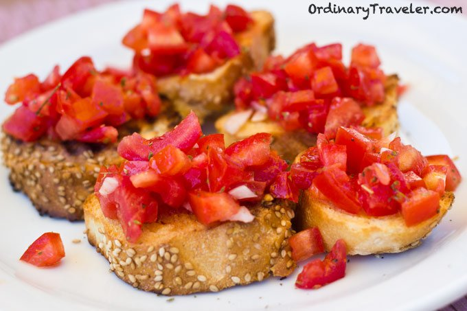 Bruschetta in Italy- Italian Food