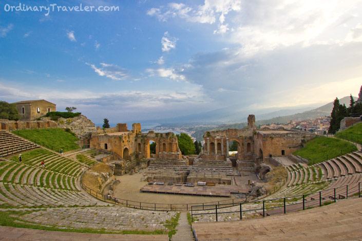 Taormina's Greek Theater at Sunset