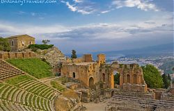 Greek Theater at Sunset - Taormina Sicily