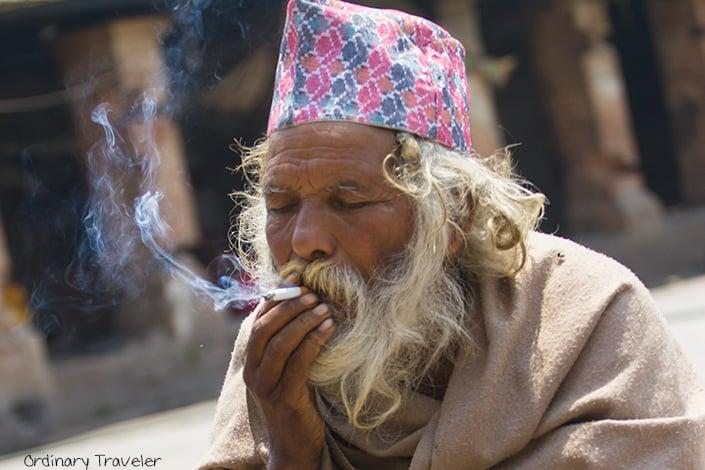 Holy Man at Pashupatinath Temple in Kathmandu, Nepal