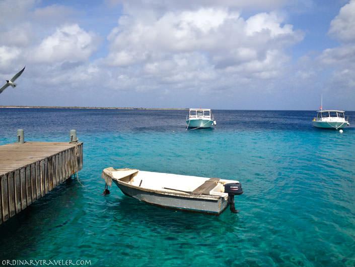 Dock at Buddy Dive Resort in Bonaire, Caribbean