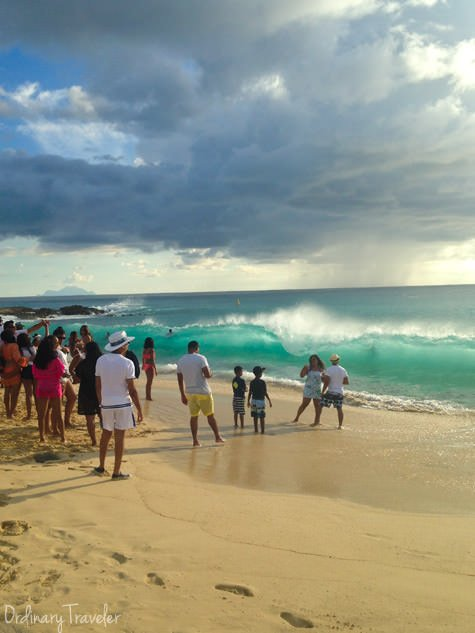 Maho Beach St. Maarten Wave
