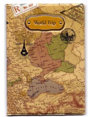 3D Map Passport Cover