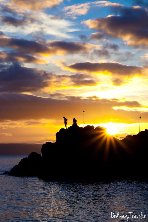 Black Rock Cliff Diving Sheraton Maui Sunset