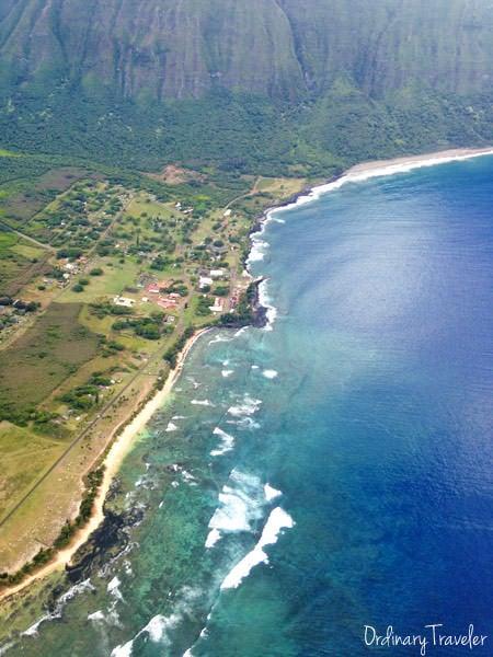 Molokai Hawaii Airplane Window View