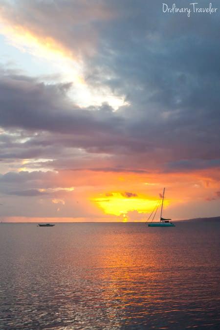 Molokai Hawaii Marina Sunset