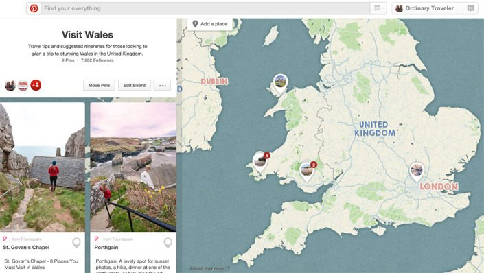 Visit Wales Pinterest Mapped Itinerary Travel