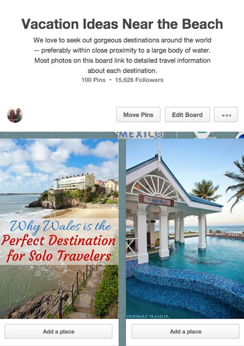 Pinterest Mapped Boards Plan Your Vacation