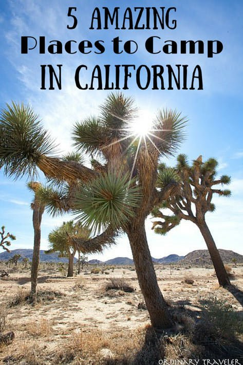 The Best Places to Camp in California