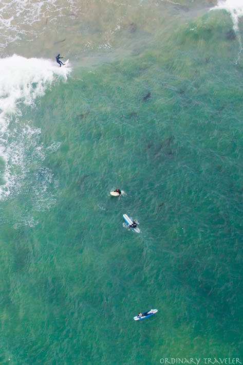 Helicopter Tour Ventura Central California Surfers Aerial Photo