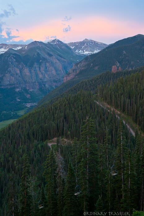 Telluride Colorado Allred's Sunset Mountain View