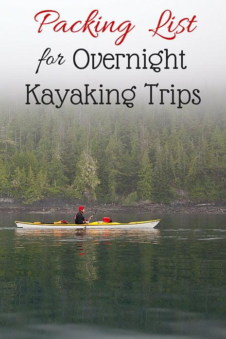 Packing List for Overnight Kayaking Trips