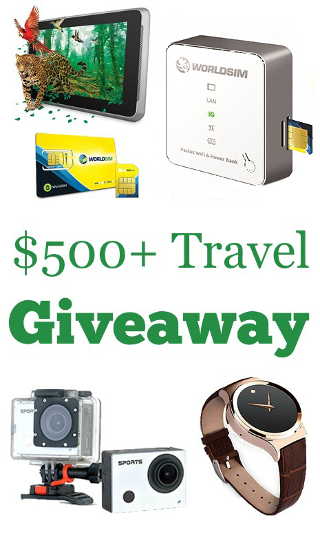 Giveaway: Win a 7″ Tablet, Smartwatch, Dual SIM Phone, Portable WiFi Hotspot, Action Camera, SIM Card, & More!
