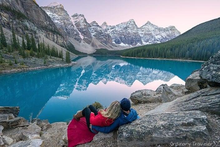 Moraine Lake Sunset - Alberta, Canada