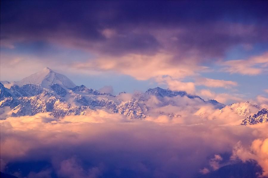 Himalaya Mountains View from Nagarkot, Nepal