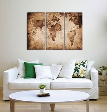 Map Canvas - Travel Home Decor Ideas